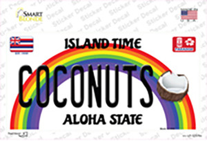 Coconuts Hawaii Wholesale Novelty Sticker Decal
