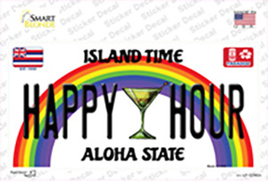 Happy Hour Hawaii Wholesale Novelty Sticker Decal