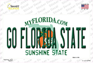 Go Florida State Wholesale Novelty Sticker Decal