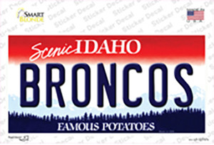 Broncos Wholesale Novelty Sticker Decal