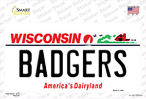 Badgers Wholesale Novelty Sticker Decal