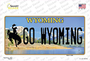 Go Wyoming Wholesale Novelty Sticker Decal