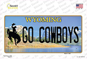 Go Cowboys Wyoming Wholesale Novelty Sticker Decal