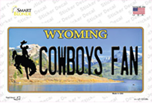 Cowboys Fan Wyoming Wholesale Novelty Sticker Decal