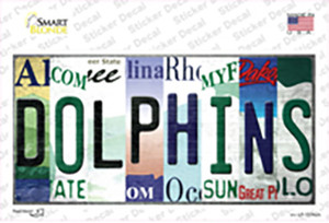 Dolphins Strip Art Wholesale Novelty Sticker Decal