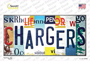 Chargers Strip Art Wholesale Novelty Sticker Decal