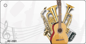 Musical Instruments OffSet Wholesale Novelty Key Chain