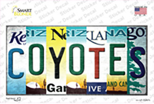 Coyotes Strip Art Wholesale Novelty Sticker Decal