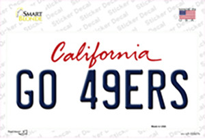 Go 49ers Wholesale Novelty Sticker Decal