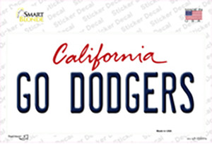 Go Dodgers Wholesale Novelty Sticker Decal