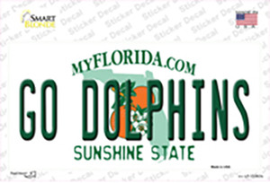 Go Dolphins Wholesale Novelty Sticker Decal