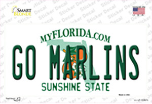 Go Marlins Wholesale Novelty Sticker Decal