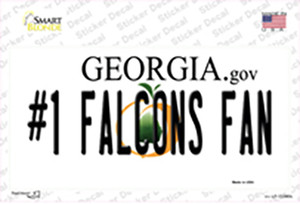 Number 1 Falcons Fan Wholesale Novelty Sticker Decal