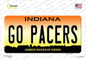 Go Pacers Wholesale Novelty Sticker Decal