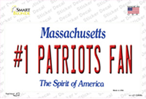 Number 1 Patriots Fan Wholesale Novelty Sticker Decal