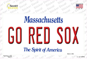 Go Red Sox Wholesale Novelty Sticker Decal