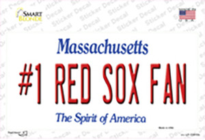 Number 1 Red Sox Fan Wholesale Novelty Sticker Decal