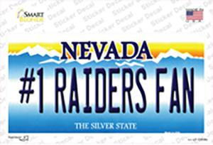 Number 1 Raiders Fan Wholesale Novelty Sticker Decal