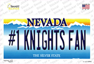Number 1 Golden Knights Fan Wholesale Novelty Sticker Decal