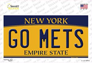 Go Mets Wholesale Novelty Sticker Decal