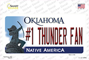 Number 1 Thunder Fan Wholesale Novelty Sticker Decal