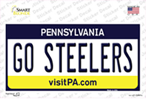 Go Steelers Wholesale Novelty Sticker Decal