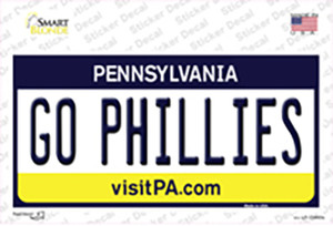 Go Phillies Wholesale Novelty Sticker Decal
