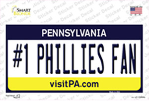 Number 1 Phillies Fan Wholesale Novelty Sticker Decal