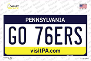 Go 76ers Wholesale Novelty Sticker Decal