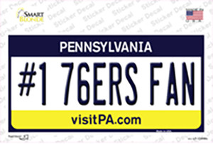 Number 1 76ers Fan Wholesale Novelty Sticker Decal