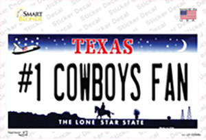 Number 1 Cowboys Fan Wholesale Novelty Sticker Decal