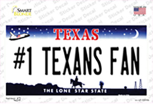 Number 1 Texans Fan Wholesale Novelty Sticker Decal