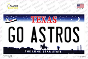 Go Astros Wholesale Novelty Sticker Decal