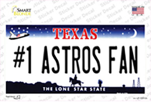 Number 1 Astros Fan Wholesale Novelty Sticker Decal