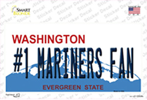 Number 1 Mariners Fan Wholesale Novelty Sticker Decal