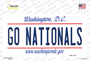 Go Nationals Wholesale Novelty Sticker Decal