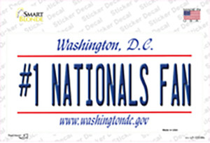 Number 1 Nationals Fan Wholesale Novelty Sticker Decal
