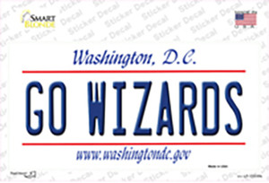 Go Wizards Wholesale Novelty Sticker Decal