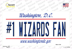 Number 1 Wizards Fan Wholesale Novelty Sticker Decal