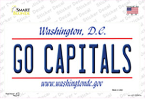 Go Capitals Wholesale Novelty Sticker Decal