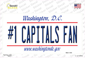 Number 1 Capitals Fan Wholesale Novelty Sticker Decal