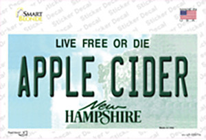 Apple Cider New Hampshire Wholesale Novelty Sticker Decal