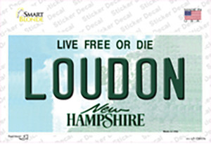 Loudon New Hampshire Wholesale Novelty Sticker Decal