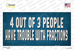 4 Out Of 3 People Wholesale Novelty Sticker Decal