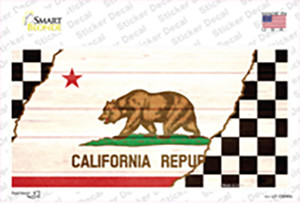 California Racing Flag Wholesale Novelty Sticker Decal