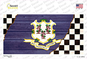 Connecticut Racing Flag Wholesale Novelty Sticker Decal