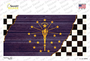 Indiana Racing Flag Wholesale Novelty Sticker Decal