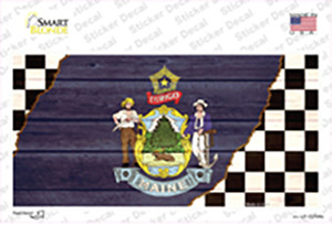 Maine Racing Flag Wholesale Novelty Sticker Decal
