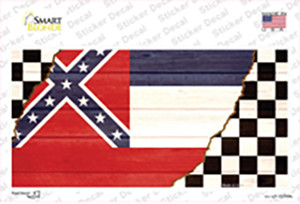 Mississippi Racing Flag Wholesale Novelty Sticker Decal