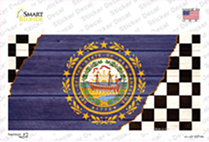 New Hampshire Racing Flag Wholesale Novelty Sticker Decal